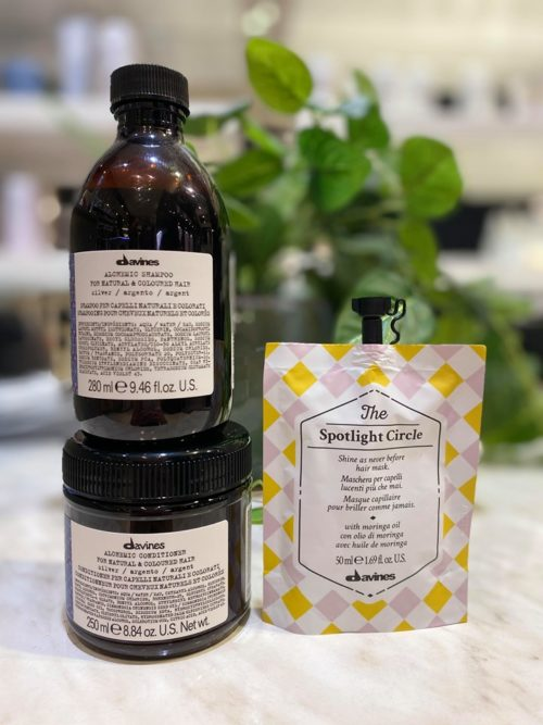 davines alchemic silver shampoo and conditioner