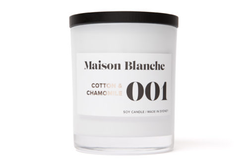 maison blanche cotton and chamomile large candle