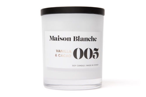 maison blanche vanilla and cacoa large candle