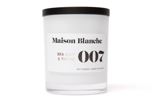 maison blanche sea salt and thyme large candle