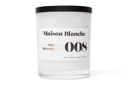 maison blanche peony and peppercorn candle